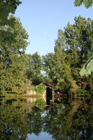 Moon over the Boathouse - Fishing Lakes France