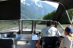 Going up river surrounded by beautiful scenery